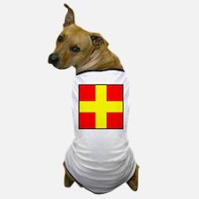 Nautical Flag Code Romeo Dog T-Shirt