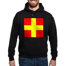 Nautical Flag Code Romeo Hoodie