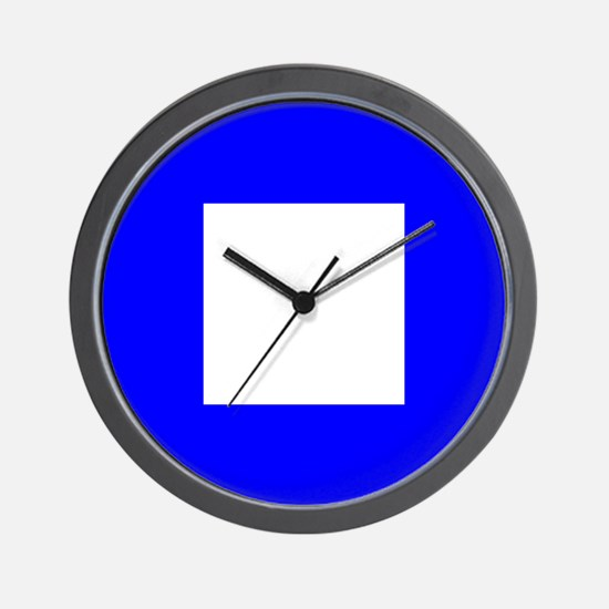 Nautical Flag Code Papa Wall Clock