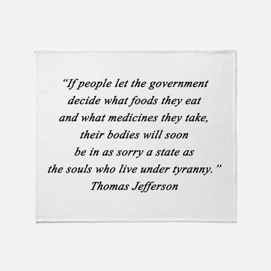 Jefferson - What Foods Throw Blanket