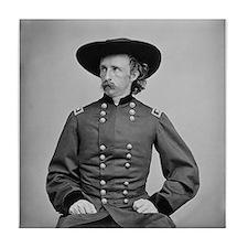George A. Custer Tile Coaster
