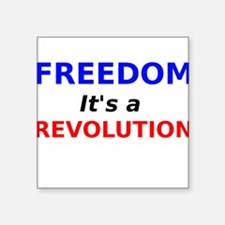 Freedom its a Revolution Sticker