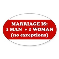 2-marriage is Bumper Stickers