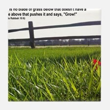 Push and Grow quote Tile Coaster