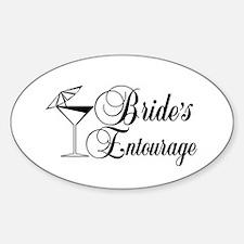 Brides Entourage with Martini Glass Umbrella Stick