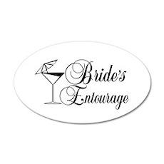 Brides Entourage with Martini Glass Umbrella Wall