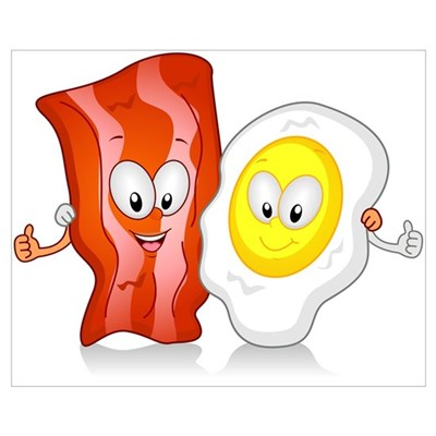 Bacon And Egg Canvas Art