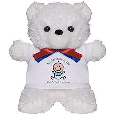 Best Grammy Baby Boy Stick Figure Teddy Bear