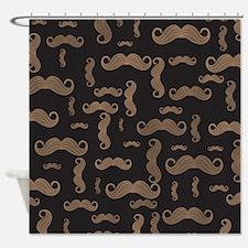 Retro Mustache Pattern Shower Curtain