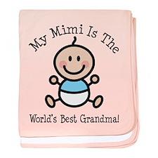 Best Mimi Baby Boy Stick Figure baby blanket