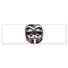 Mask Bumper Bumper Sticker