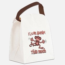 I love Adrian this much Canvas Lunch Bag