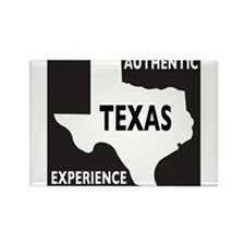 Authentic Texas Experience white-stroked Rectangle