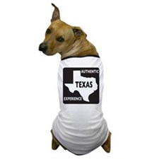Authentic Texas Experience white-stroked Dog T-Shi