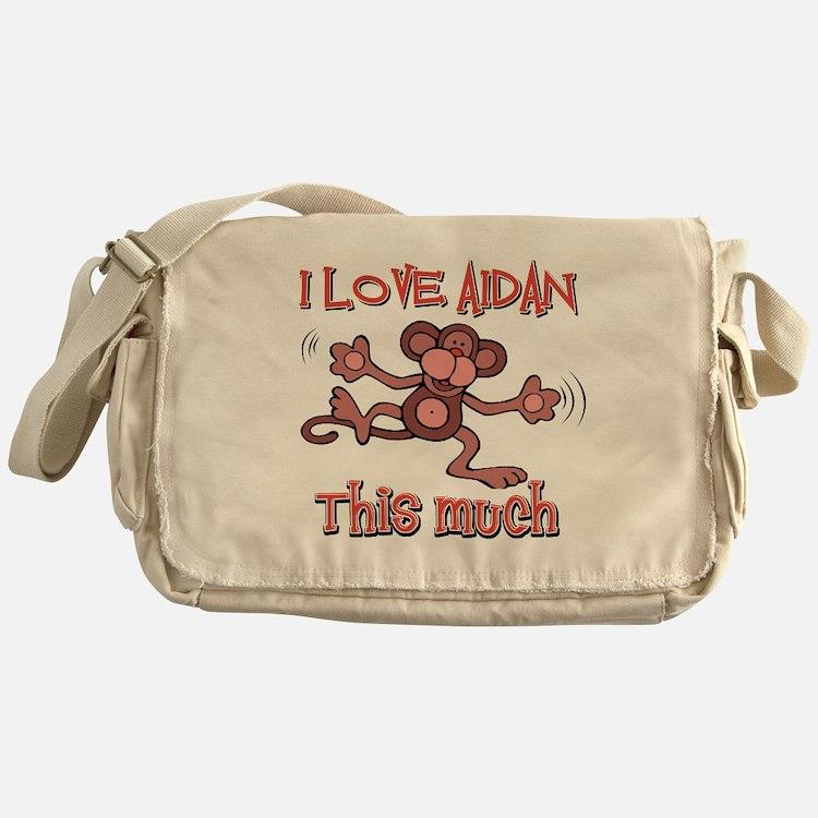 I love Aidan this much Messenger Bag