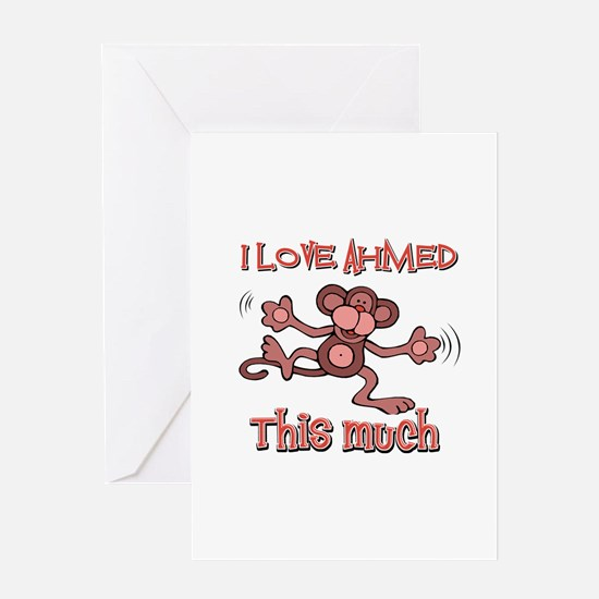 I love Ahmed this much Greeting Card