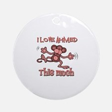 I love Ahmed this much Ornament (Round)