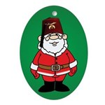 Santa Shriner Oval Ornament
