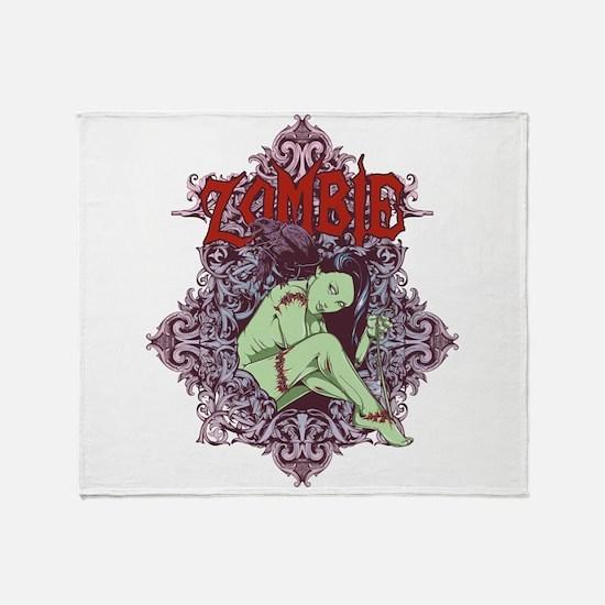 Zombie Girl Throw Blanket