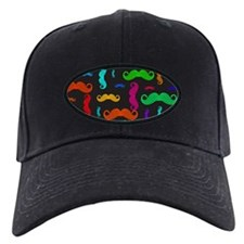 Colorful Mustache Pattern Baseball Hat
