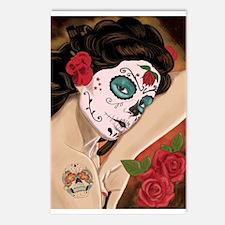 Blue Skull - dia de los muertos Pin-up Postcards (