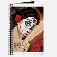 Blue Skull - dia de los muertos Pin-up Journal