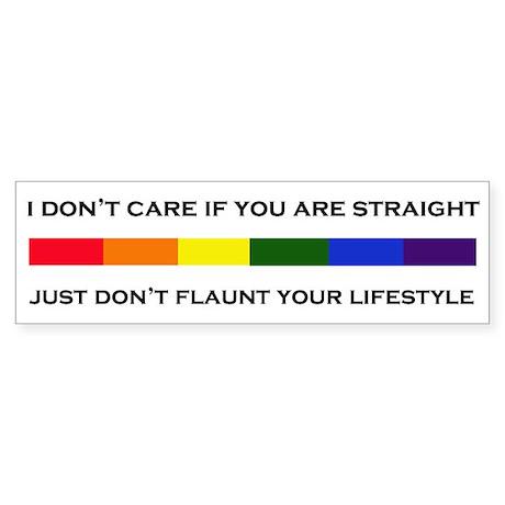 Flaunt Your Lifestyle Sticker Bumper Sticker