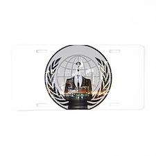 Anon Aluminum License Plate