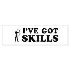 I've got Archery skills Bumper Sticker