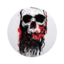 Blood Skull Ornament (Round)