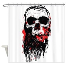 Blood Skull Shower Curtain