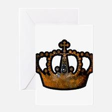 Cosmic Crown Greeting Card