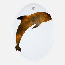 Cosmic Dolphin Ornament (Oval)