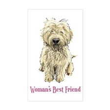 Woman's Best Friend Rectangle Decal