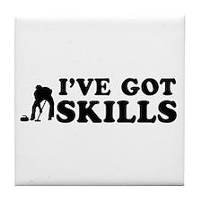 I've got Curling skills Tile Coaster