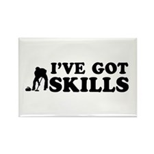 I've got Curling skills Rectangle Magnet