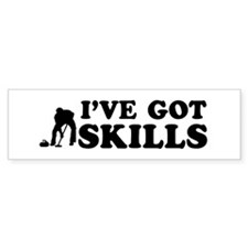 I've got Curling skills Bumper Sticker