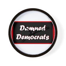 Damned Democrats Wall Clock