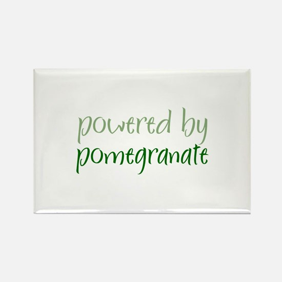 Powered By pomegranate Rectangle Magnet