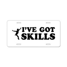 I've got Figure Skate skills Aluminum License Plat