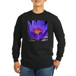 Purple Lily Long Sleeve Dark T-Shirt