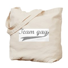 Team Gay Grey Tote Bag