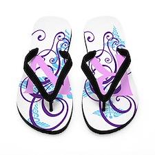 RN - Pink Purple Flip Flops