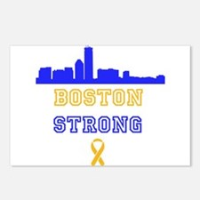 Boston Strong Skyline Blue and Gold Postcards (Pac