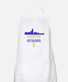 Boston Strong Skyline Blue and Gold Apron
