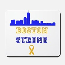 Boston Strong Skyline Blue and Gold Mousepad