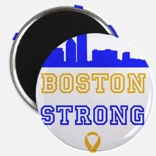 Boston Strong Skyline Blue and Gold Magnet