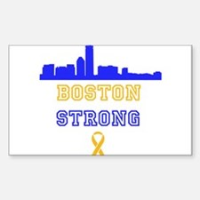 Boston Strong Skyline Blue and Gold Decal