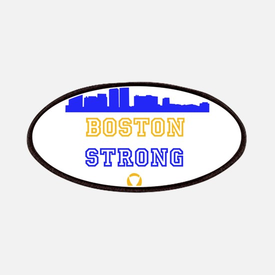 Boston Strong Skyline Blue and Gold Patches