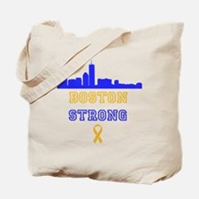 Boston Strong Skyline Blue and Gold Tote Bag